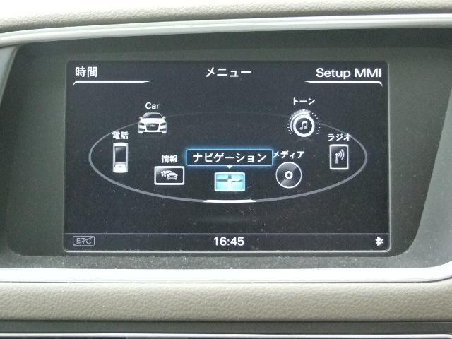 MMIではナビからテレビ、ラジオ、CD、DVDなどのエンターテイメント、車両の設定まですべてが一つにまとめられたシステムになっており、扱いやすさが重視されています。