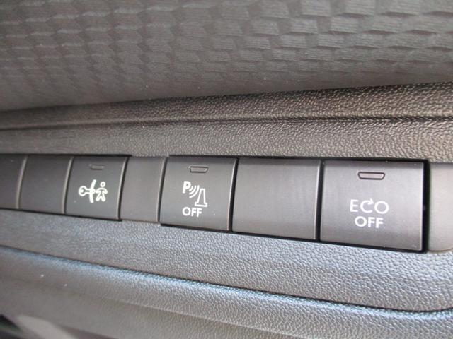 アイドリングストップ機能が装備されています。こちらのボタンでON、OFFの切り替えが行えます。【プジョー大府:0562-44-0381】