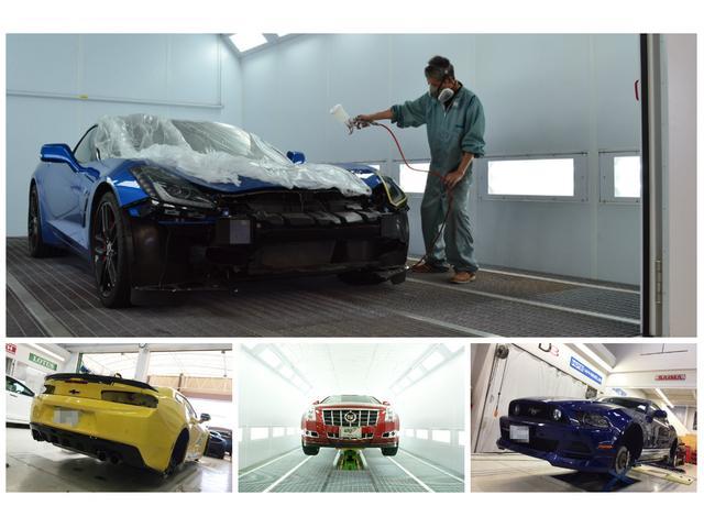 WINGBODYはテスラボディーの認証工場です。SAIMA社製塗装ブースにはリフトも完備しており、熟練のメカニックが最新の設備と技術力でサポート致します!
