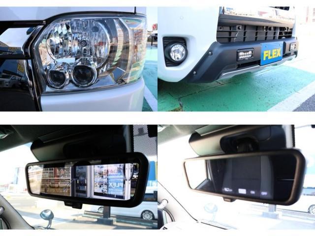 スーパーGL ダークプライムII ディーゼル4WD/MONSTAMUDWARRIOR16inch/TRDフロントスポイラーLED付き/純正テールスモーク加工/SDナビ/ETC/パーキングサポート/両側電動スライドドア(20枚目)