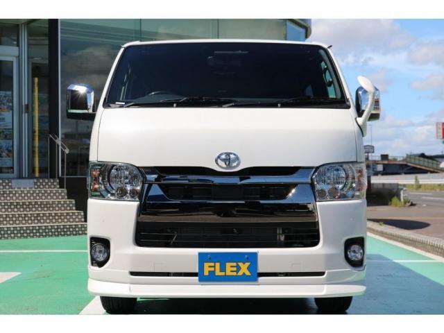 スーパーGL ダークプライムII ディーゼルターボ/4WD/パーキングサポート/1.15inchローダウンブロック/FLEXオリジナルバルベログランデ17AW/FLEXオリジナルスポイラ/7inchSDナビ/ETC/ガッツミラ同色塗装(6枚目)