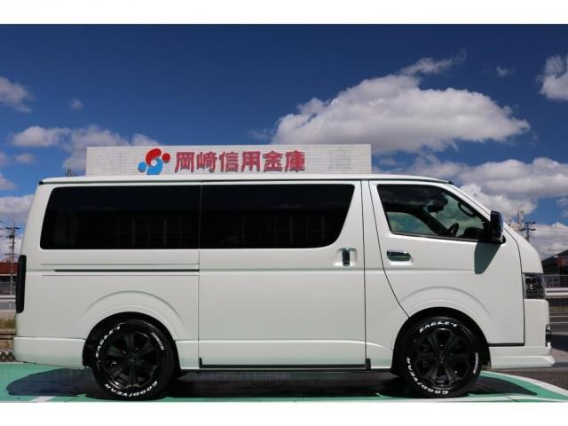 スーパーGL ダークプライムII ディーゼルターボ/4WD/パーキングサポート/1.15inchローダウンブロック/FLEXオリジナルバルベログランデ17AW/FLEXオリジナルスポイラ/7inchSDナビ/ETC/ガッツミラ同色塗装(8枚目)