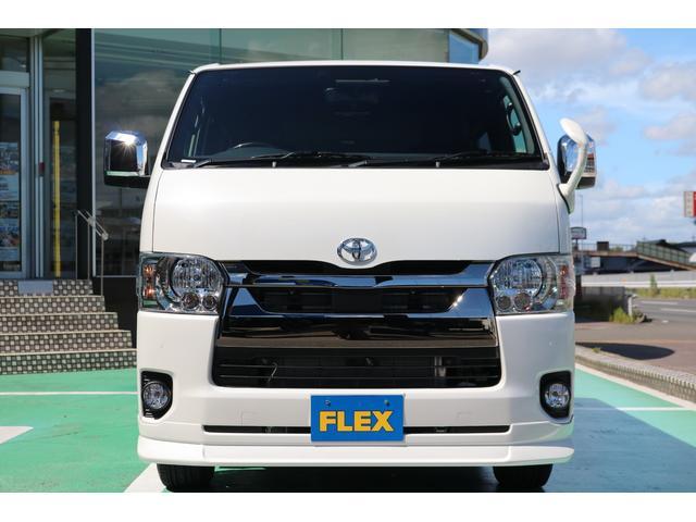 スーパーGL ダークプライムII ディーゼルターボ/4WD/パーキングサポート/1.15inchローダウンブロック/FLEXオリジナルバルベログランデ17AW/FLEXオリジナルスポイラ/7inchSDナビ/ETC/ガッツミラ同色塗装(56枚目)