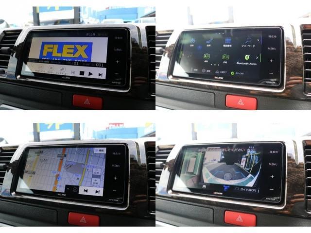 スーパーGL ダークプライムII 4WD/パーキングサポート/1.15インチエローダウンブロック/フレックスオリジナルデルフ0217AW/フレックスオリジナルフロントリップ/オーバーフェンダー/7インチフルセグSDナビ/ガッツミラ同色(2枚目)
