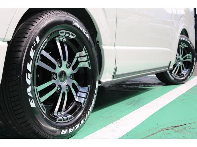 スーパーGL ダークプライムII 4WD/パーキングサポート/1.15インチエローダウンブロック/フレックスオリジナルデルフ0217AW/フレックスオリジナルフロントリップ/オーバーフェンダー/7インチフルセグSDナビ/ガッツミラ同色(11枚目)