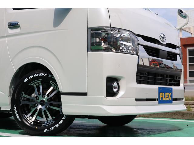 スーパーGL ダークプライムII 4WD/パーキングサポート/1.15インチエローダウンブロック/フレックスオリジナルデルフ0217AW/フレックスオリジナルフロントリップ/オーバーフェンダー/7インチフルセグSDナビ/ガッツミラ同色(73枚目)