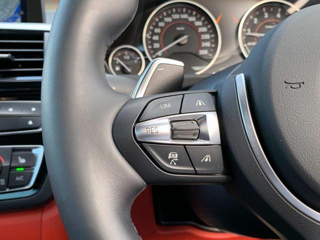 435iクーペ Mスポーツ オプションLEDヘッド フォグ 赤革シートH ACC追従クルコン インテリセーフ RDW カーボンリップ 黒ドアミラー Mパフォ黒グリル Rスポ OP19AW(4本新品タイヤ) スマートキー 禁煙(29枚目)