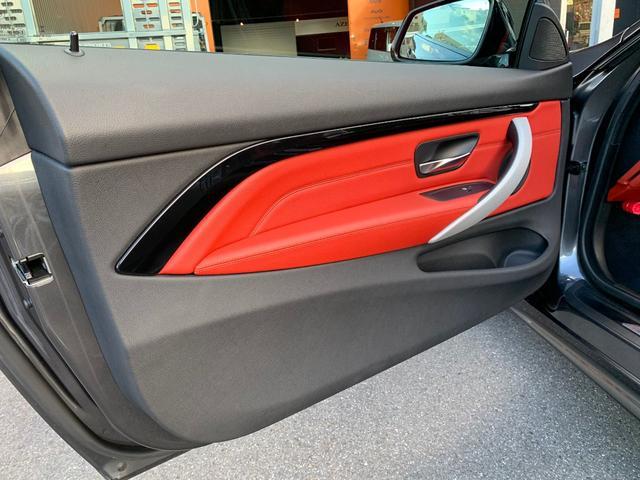 435iクーペ Mスポーツ オプションLEDヘッド フォグ 赤革シートH ACC追従クルコン インテリセーフ RDW カーボンリップ 黒ドアミラー Mパフォ黒グリル Rスポ OP19AW(4本新品タイヤ) スマートキー 禁煙(56枚目)