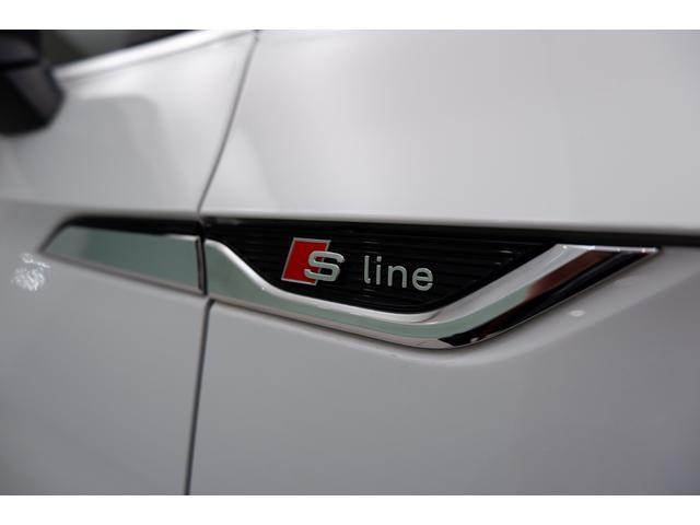 両側のフロントフェンダーには 「S-line」エンブレム。 スポーティーさをさりげなく主張しています。