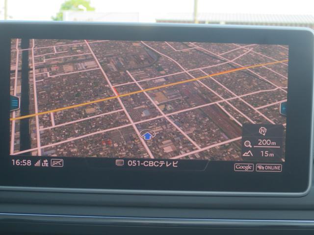 インターネット機能「Audi Connect」による、多彩な機能を搭載!GoogleMapの航空写真モードです。