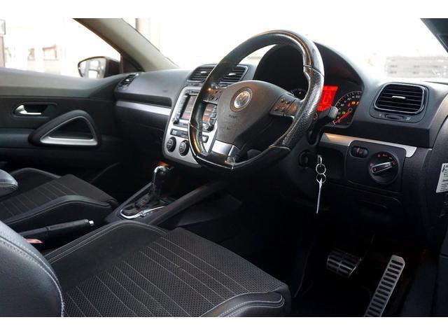 フォルクスワーゲン VW シロッコ TSI ハーフレザー パドルシフト ローダウン 18inAw