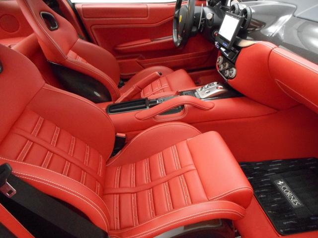 フェラーリ フェラーリ 599 F1カーボンシートバックフル電動シート ロッソデイトナシート