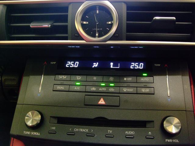 レクサス RC F ベースグレード 内装色 フレアレッド カーボン