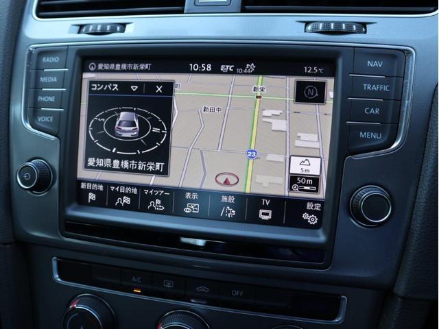 8インチタッチパネルの純正ナビゲーションシステム「ディスカバープロ」。(TV、CD、DVD、SD、Bluetoothなどに対応しています。)