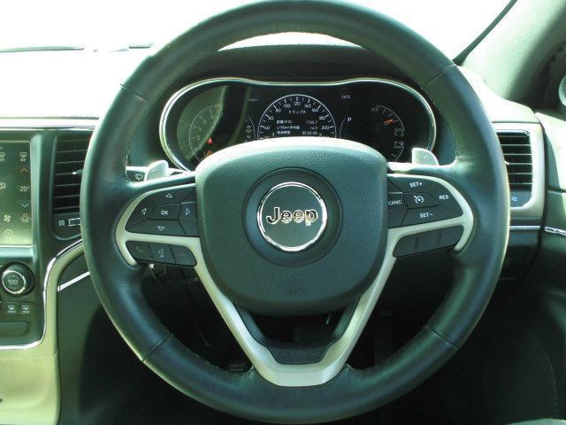 ハンドルが太く持ちやすく運転しやすいです。またクルーズコントロールが装備されておりますので、長距離運転の手助けをしてくれます。