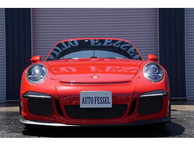 2014y ポルシェ 911 GT3 PDK 左H ディーラー車 2オーナー スポーツクロノPKG スポーツエキゾーストの入庫です!