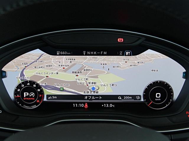 必要に応じてメーター内にナビ画面や車両インフォメーションなどを切り替え表示できるバーチャルコクピットを装着