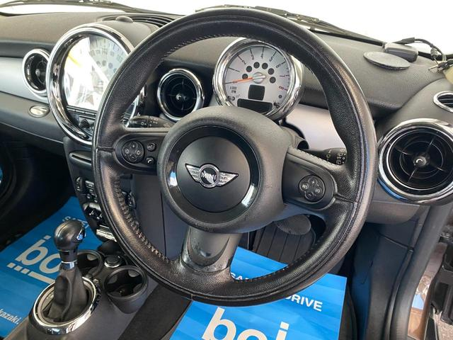 クーパー R56後期モデル プッシュスタート 後期ビックバンパー ステアリングスイッチ パドルシフト HID 本革ステアリング 社外MINI15インチアルミホイール ETC 無事故車 禁煙車 正規ディーラー車(9枚目)