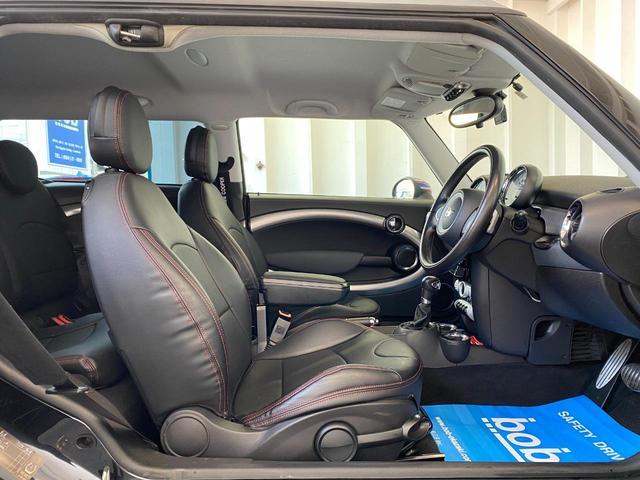 クーパーS クラブマン R55クーパーSプッシュスタート レザーシートカバー HDDナビ&TV ドライブレコーダー OZ17インチアルミホイール ユニオンジャックボンネットストライプ&ミラー 禁煙車 正規ディーラー車(13枚目)