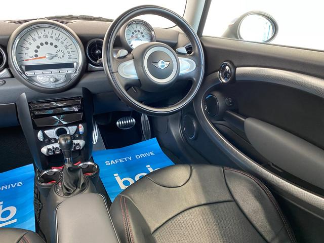 クーパーS クラブマン R55クーパーSプッシュスタート レザーシートカバー HDDナビ&TV ドライブレコーダー OZ17インチアルミホイール ユニオンジャックボンネットストライプ&ミラー 禁煙車 正規ディーラー車(41枚目)