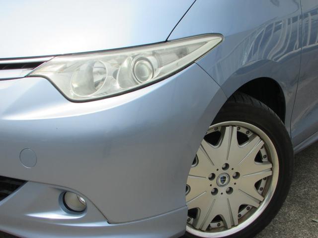 トヨタ エスティマ G 4WD 7人乗 革 ナビ後席モニター 両側電動 1オーナ