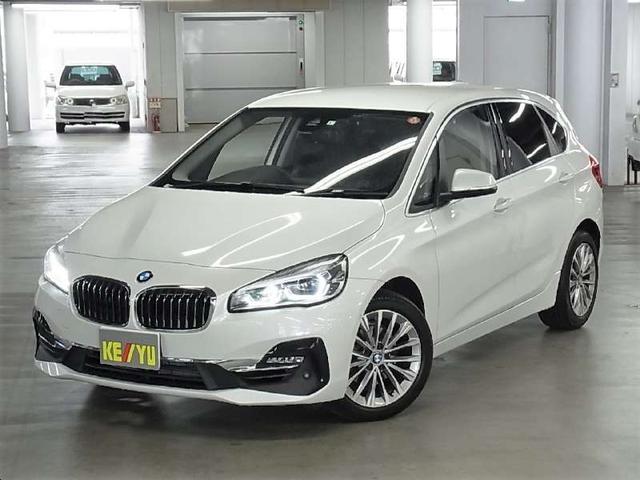 BMW 218iアクティブツアラー ラグジュアリー インテリジェントセーフティ ドライブレコーダー パワーバックドア メモリー付黒革電動シート シートヒーター アイドリングストップ クリアランスソナー iDrive バックカメラ BTオーディオ 禁煙車