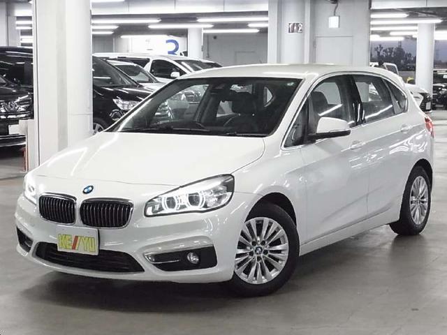 BMW 218iアクティブツアラー ラグジュアリー インテリジェントセーフティ 車線逸脱警告 iDriveHDDナビ バックカメラ BTオーディオ メモリ付パーフォレーテッドダコタレザー電動シート シートヒーター ETC2.0 i-STOP 禁煙車