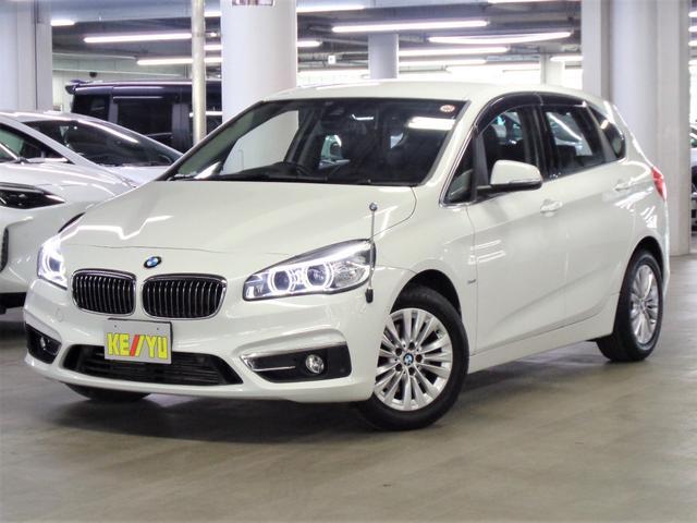 BMW 2シリーズ 218dアクティブツアラー ラグジュアリー 衝突被害軽減ブレーキ iDriveHDDナビ フルセグTV Bluetooth バックカメラ ETC パークアシスト シートヒーター 黒レザー電動シート アイドリングストップ LEDヘッドランプ 禁煙