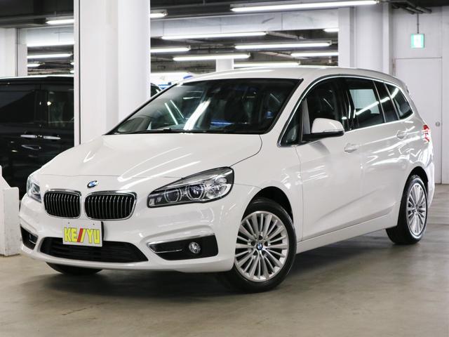 BMW 2シリーズ 218iグランツアラー ラグジュアリー 7人乗 インテリジェントセーフティ シートヒーター 電動レザーシート パワーバックドア iDrive ETC2.0 バックカメラ Bluetooth アイドリングストップ ランフラット・17AW 禁煙