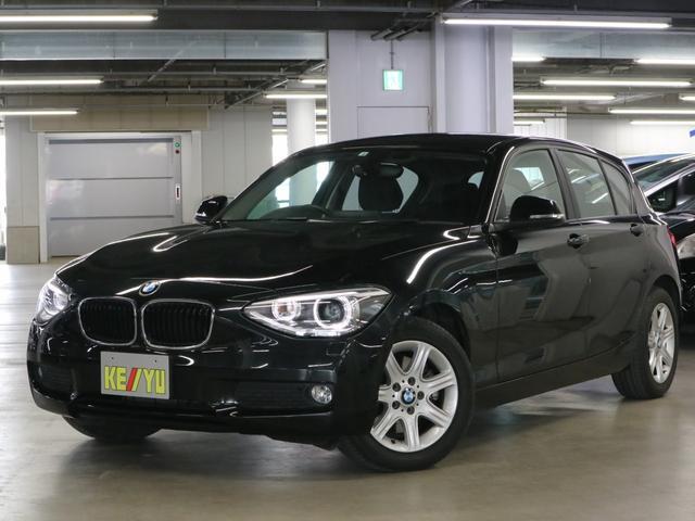 BMW 116i アイドリングストップ iDriveHDDナビ CD・DVD再生 HIDヘッドライト オートライト フォグ・バックフォグランプ SPORTモード MTモード ランフラットタイヤ・純正16インチAW 禁煙