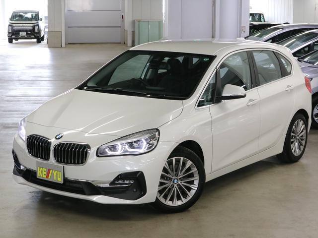 BMW 218dアクティブツアラー ラグジュアリー 1オーナー ディーゼルターボ インテリジェントセーフティ シートヒーター 電動黒レザー パワーバックドア パーキングアシスト ソナー iDriveナビ バックカメラ ETC2.0 LEDライト 禁煙車