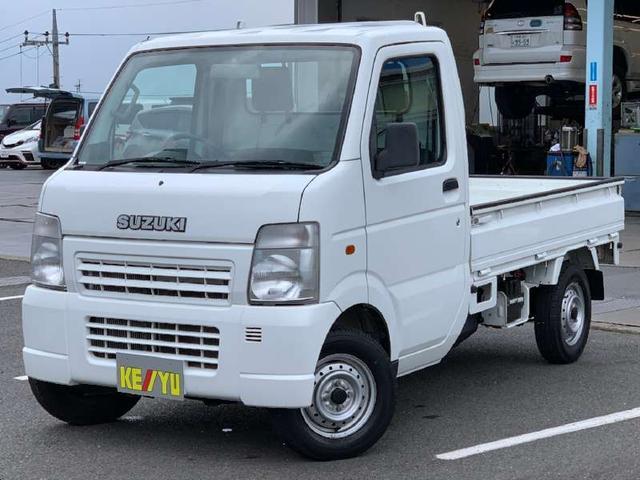 スズキ キャリイトラック KCエアコン・パワステ パートタイム4WD 5速マニュアル エアコン パワーステアリング