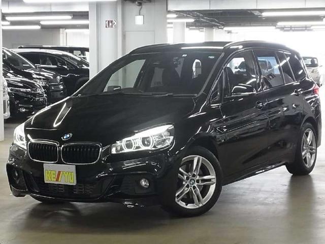 BMW 218iグランツアラー Mスポーツ 衝突軽減ブレーキ ヘッドアップディスプレイ ドライブレコーダー アクティブクルーズコントロール パワーバックドア パーキングソナー ルーフレール iDrive ETC Bluetooth LEDライト