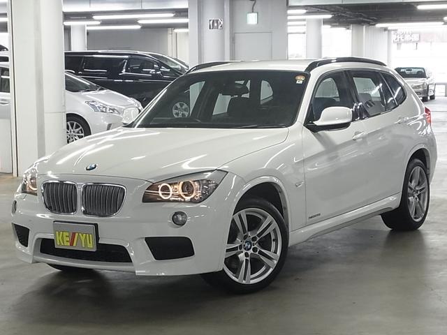 BMW X1 xDrive 25i Mスポーツ 4WD コンフォートアクセス メモリ付パワーシート 純正HDDナビ ETC搭載ルームミラー USB・AUX端子 CD・DVD ランフラット・純正18インチAW ルーフレール スペアキー・記録簿有 禁煙