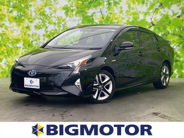 トヨタ プリウス Sツーリングセレクション ヘッドランプ LED/EBD付ABS/横滑り防止装置/アイドリングストップ/エアバッグ 運転席/エアバッグ 助手席/エアバッグ サイド/パワーウインドウ/オートエアコン/パワーステアリング