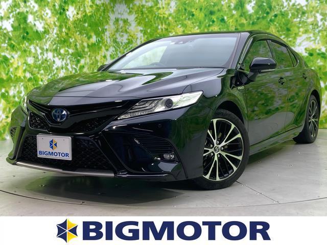 トヨタ カムリ WS 純正 8インチ メモリーナビ/シート ハーフレザー/車線逸脱防止支援システム/パーキングアシスト バックガイド/ヘッドランプ LED/ETC/EBD付ABS/横滑り防止装置 LEDヘッドランプ