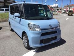 沖縄の中古車 ダイハツ タント 車両価格 120万円 リ済別 平成29年 0.3万K シルキーブルーパール