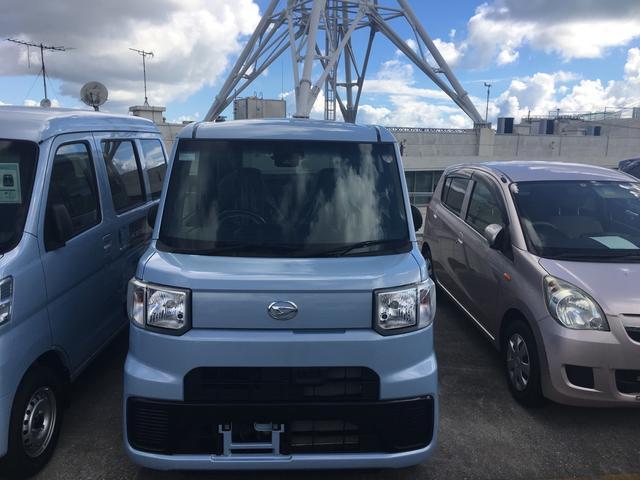 沖縄の中古車 ダイハツ ハイゼットキャディー 車両価格 120万円 リ済別 平成28年 630km ミストブルーマイカM