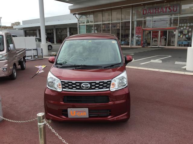 沖縄の中古車 ダイハツ ムーヴ 車両価格 121万円 リ済別 平成29年 0.8万km ファイアークォーツレッドM
