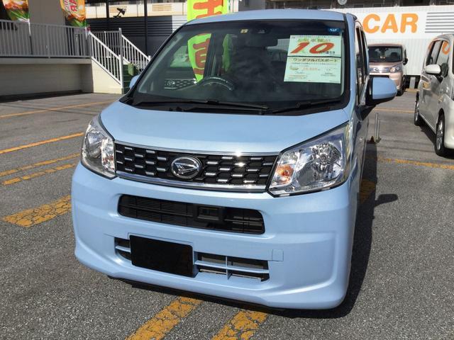 沖縄の中古車 ダイハツ ムーヴ 車両価格 128万円 リ済別 平成29年 0.9万km シルキーブルーパール