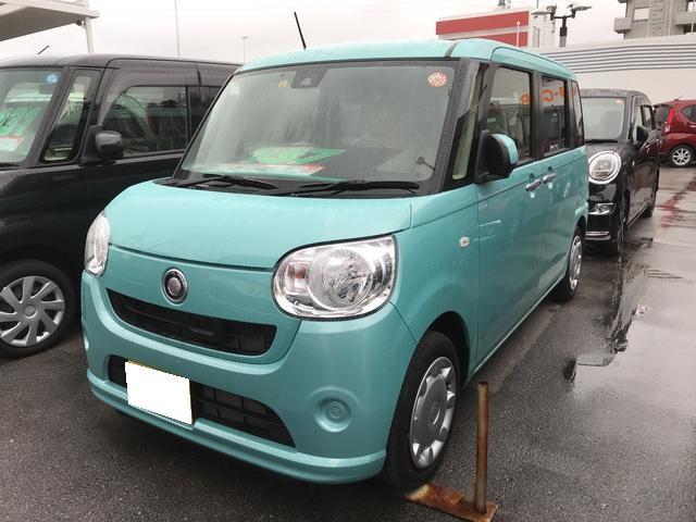 沖縄の中古車 ダイハツ ムーヴキャンバス 車両価格 137万円 リ済別 平成29年 1.6万km ファインミントM