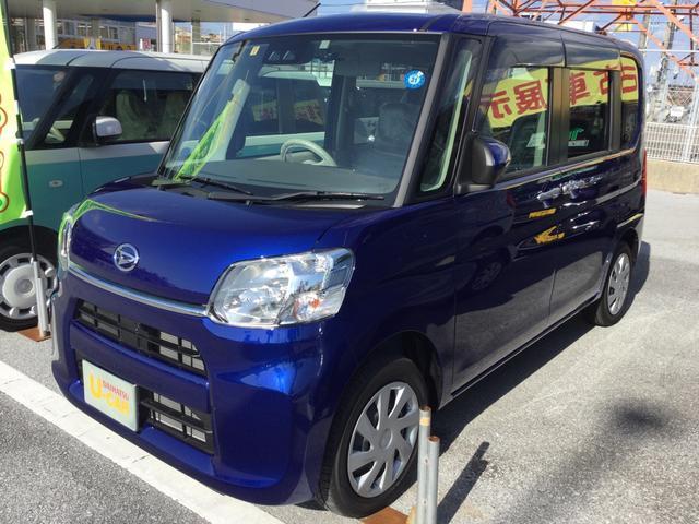 沖縄の中古車 ダイハツ タント 車両価格 153万円 リ済別 平成30年 508km ディープブルークリスタルマイカ