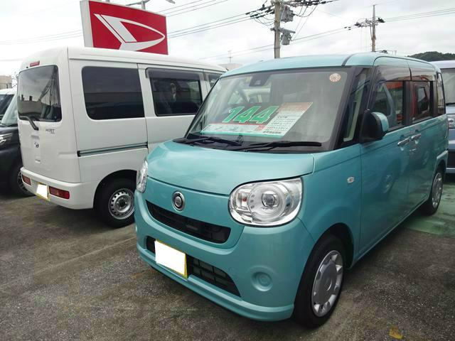 沖縄の中古車 ダイハツ ムーヴキャンバス 車両価格 144万円 リ済別 平成29年 0.3万km ファインミントM