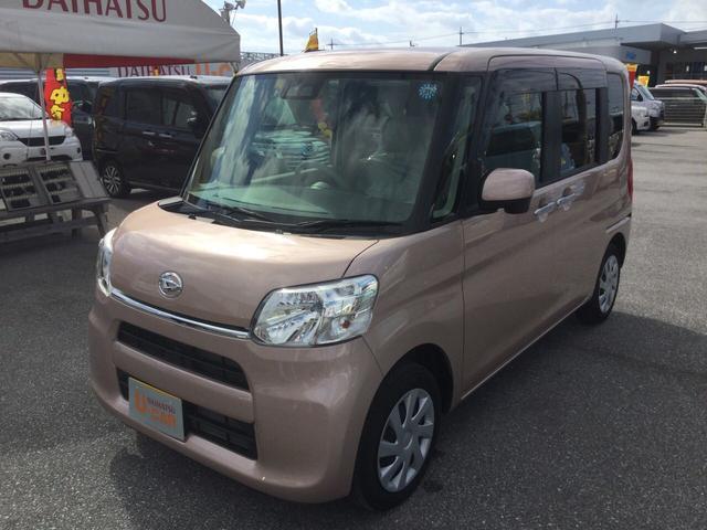沖縄の中古車 ダイハツ タント 車両価格 126万円 リ済別 平成30年 0.2万km ライトローズマイカM2