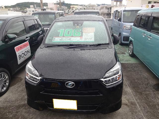 沖縄の中古車 ダイハツ ミライース 車両価格 106万円 リ済別 平成30年 920km ブラックマイカM