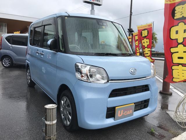 沖縄の中古車 ダイハツ タント 車両価格 146万円 リ済別 平成30年 0.1万km シルキーブルーパール