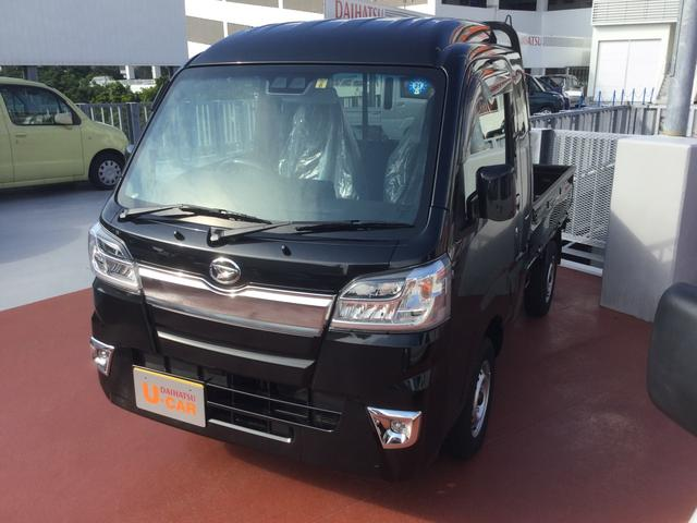 沖縄の中古車 ダイハツ ハイゼットトラック 車両価格 113万円 リ済別 平成30年 977km ブラックマイカM