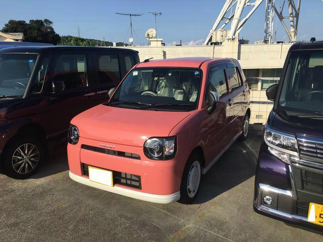 沖縄の中古車 ダイハツ ミラトコット 車両価格 128万円 リ済別 平成30年 0.1万km ジューシーピンクM