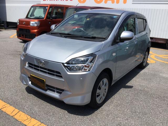 沖縄の中古車 ダイハツ ミライース 車両価格 106万円 リ済別 平成30年 0.2万km ブライトシルバーM