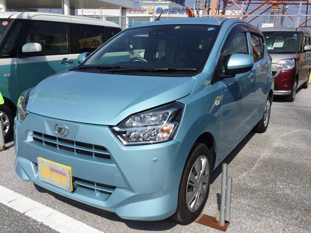 沖縄の中古車 ダイハツ ミライース 車両価格 104万円 リ済別 平成29年 0.5万km スカイブルーM